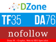 Write and publish a guest post on Dzone.com - DA77, TF35