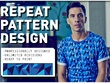 Custom design you a seamless repeat pattern