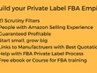Research Two  private label products opportunities for Amazon