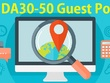 Place 5 unique guest blog posts on DA30-50 websites