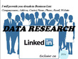 LinkedIn data research, Data mining, Collection