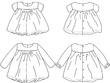 Sketch a garment/accessory design for Kidswear