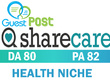 Publish on ShareCare Health Niche Website DA80 PA82