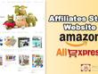 Create complete auto Amazon or Aliexpress affiliate store