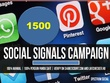 POWERFULL HQ ORGANIC 1500 social signals from 4 best social media site