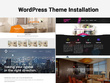 Install and configure WordPress Theme with demo content
