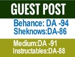 Publish Guest Post on Behance, Medium, bloglovin (Cheap Rate)