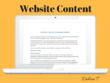 Write your website content: 300-600 words on any topic
