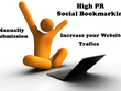 Manually create 30 High Pr Social Bookmarking backlink