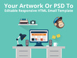 Code a  MailChimp HTML Email Template from your PSD artwork