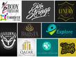 Design logo modern unique logos  SOURCE FILES
