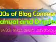 Do 1000 blog comments manually as backlinks