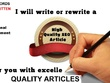 Write 5 Articles ,blogposts  500 Words Each UNIQUE and Pass Copyscape