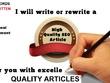 Write 5 Articles blogpost 500 Words Each UNIQUE & Pass Copyscape