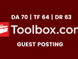 Publish a guest post on IT Toolbox - DA70, TF64, DR63