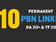 Permanent 10 PBN Links ✔ ✔ ✔ DA 20+ ✔✔✔ TF 20+ ✔ ✔ ✔ No DUPLICATE Domain ✔ ✔ ✔