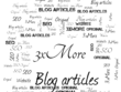 Write 3 original and SEO-ready blog posts or website articles on any topic