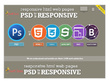 Develop Psd to responsive HTML5 +CSS3 Incl. Js