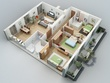 Do DWG or PDF  to covert Mordern and attractive  3d Floor plan, unlimited Reivison