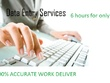Do accurate any type data entry 6 hours for