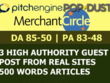 I Will Write And Publish Guest Post On Pitchengine, MerchantCircle And Popdust