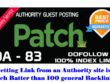 Publish An Influential Guest Post On Patch Da 83