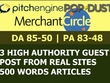 Write and Publish Guest Post on Pitchengine, MerchantCircle And Popdust