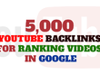 Do 5,000 Youtube Backlinks For Ranking Videos In Google