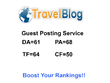 Publish Guest Post on Travel Website - DA 61 PA 68 TF 64 CF 50