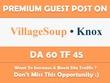 Write & Publish Guest Post on Village Soup Newspaper. Knox.villagesoup.com - DA 60