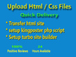 Upload html, css files to your ftp server or cpanel