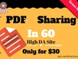 Write And Submit In 60 Pdf Document Sharing High DA Sites
