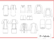 Provide 7 tech packs + technical fashion drawings + consulting