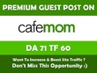 Publish a guest post on CafeMom - CafeMom.com - DA76, PA61