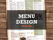 Design you a professional and beautiful menu