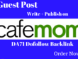 Publish an Article on the Cafemom DA71 with Dofollow Backlink