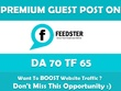 Write & Publish Guest Post on Feedster. Feedster.com - DA70