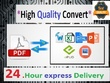 Convert, retype or reformat, scan document or PDF to MS Word or MS Excel (upto 10pg)