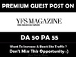 Publish Guest Post on YFS Magazine. Yfsmagazine.com - DA 50
