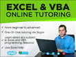 Tutor via Skype with screen sharing on any subject in Excel and VBA programming