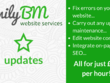 Provide 1 hour of updates/ customisation for your website using HTML, CSS, Bootstrap