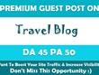 Write & Publish Guest Post on Premium Travel Blog - DA45, TF30