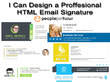 Design a clickable HTML email signature