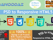 Psd or PDF to responsive HTML5 +CSS3,Bootstrap and Js/Jquery