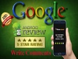 Provide 15 Android apps reviews with 5 star Rating and Comment