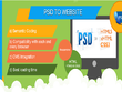 Convert PSD to Responsive HTML5, CSS3 using Bootstrap 3