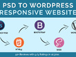 Convert PSD to Wordpress Theme using Bootstrap