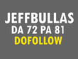 Skyrocket your site with a HQ Jeffbullas DA72 authoritative Dofollow backLink