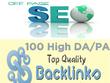 Do 100+ high DA/PA authority SEO backlinks for your website