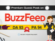 Publish a Quality Article on BuzzFeed, buzzfeed.com, DA 93